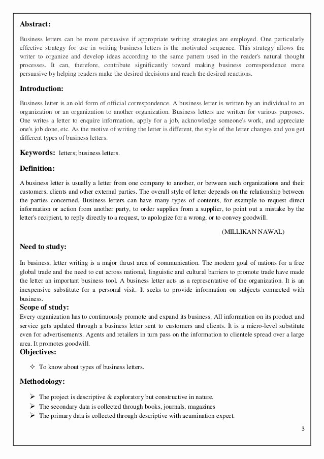Types Of Letter format Luxury Types Business Letter format Pdf