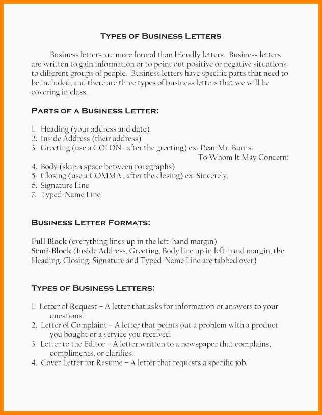Types Of Letter format New 9 Different Letter formats