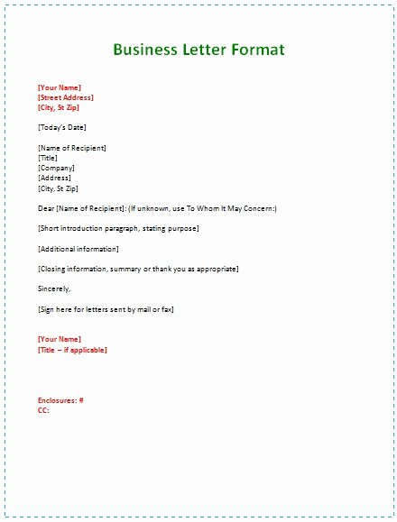 Types Of Letter format Unique How to Type A Business Letter format
