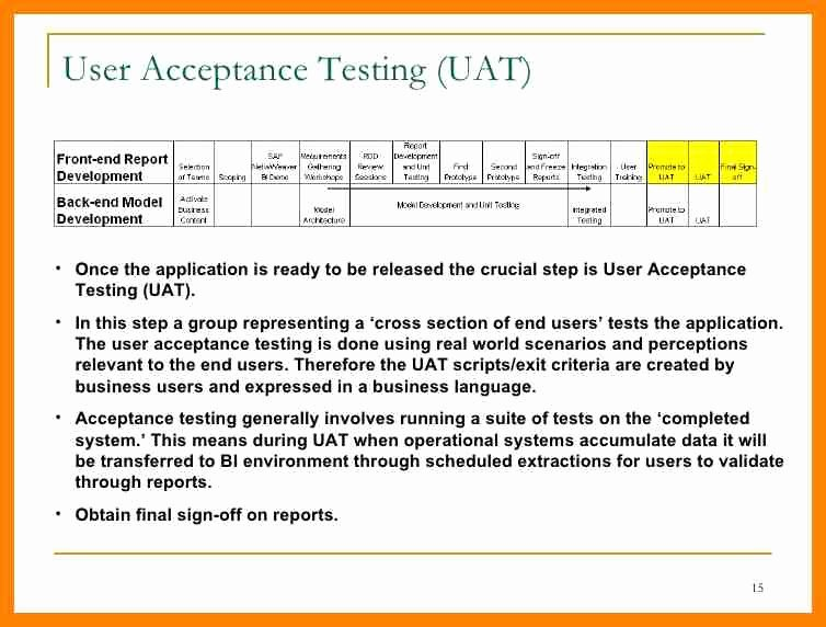 Uat Test Plan Template Awesome Excel Template