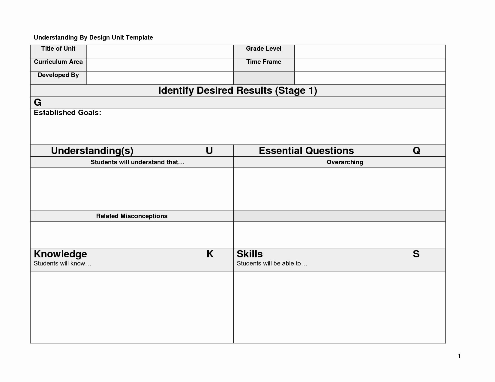 Ubd Lesson Plan Template Inspirational Simple Stock Blank Ubd Lesson Plan Template