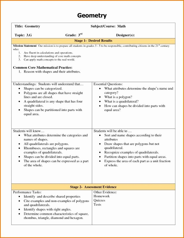 Ubd Unit Plan Template Fresh Ubd Lesson Plan Template