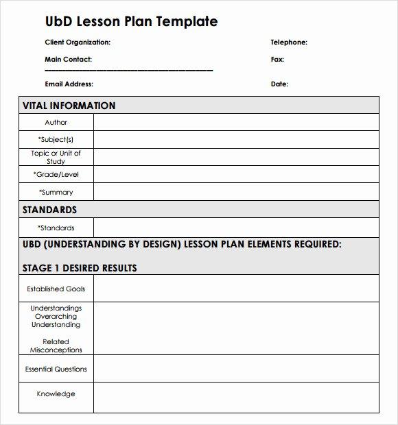 Ubd Unit Plan Template Unique 8 Unit Plan Samples