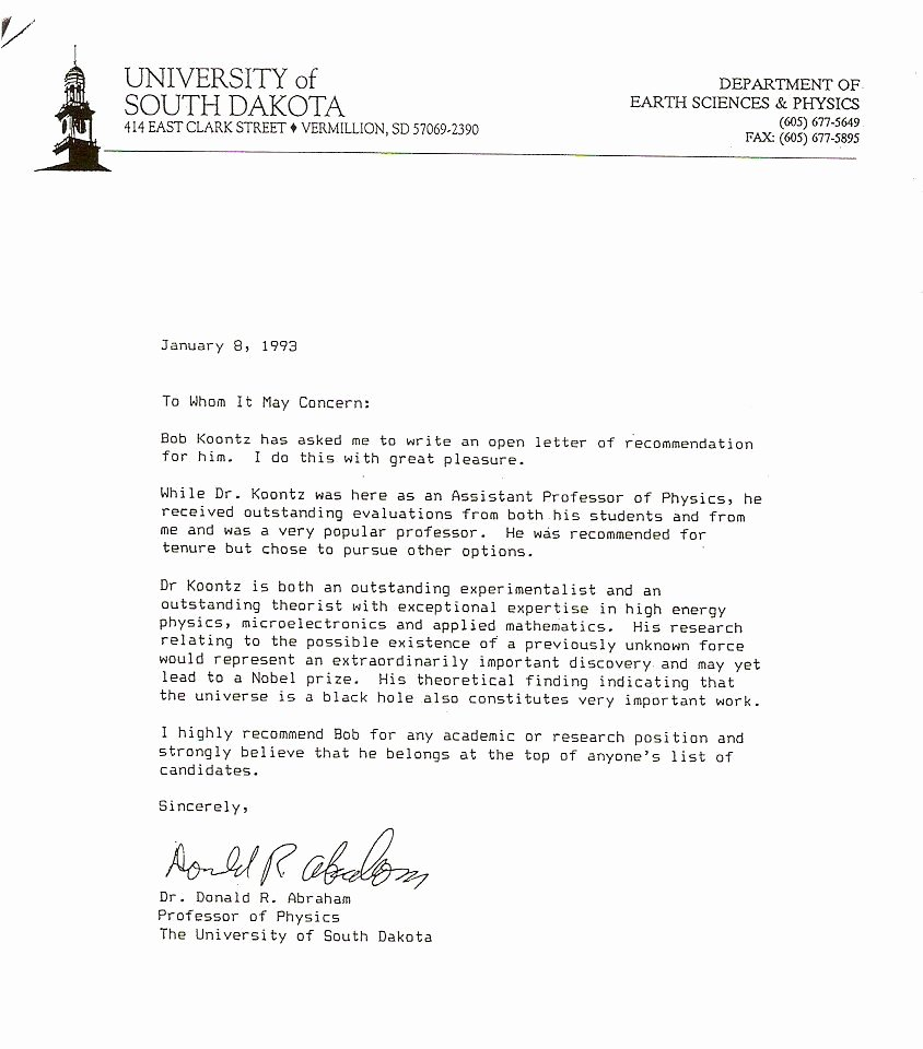 Uc Berkeley Letter Of Recommendation New News Articles and Other Material Relating to Bob Koontz