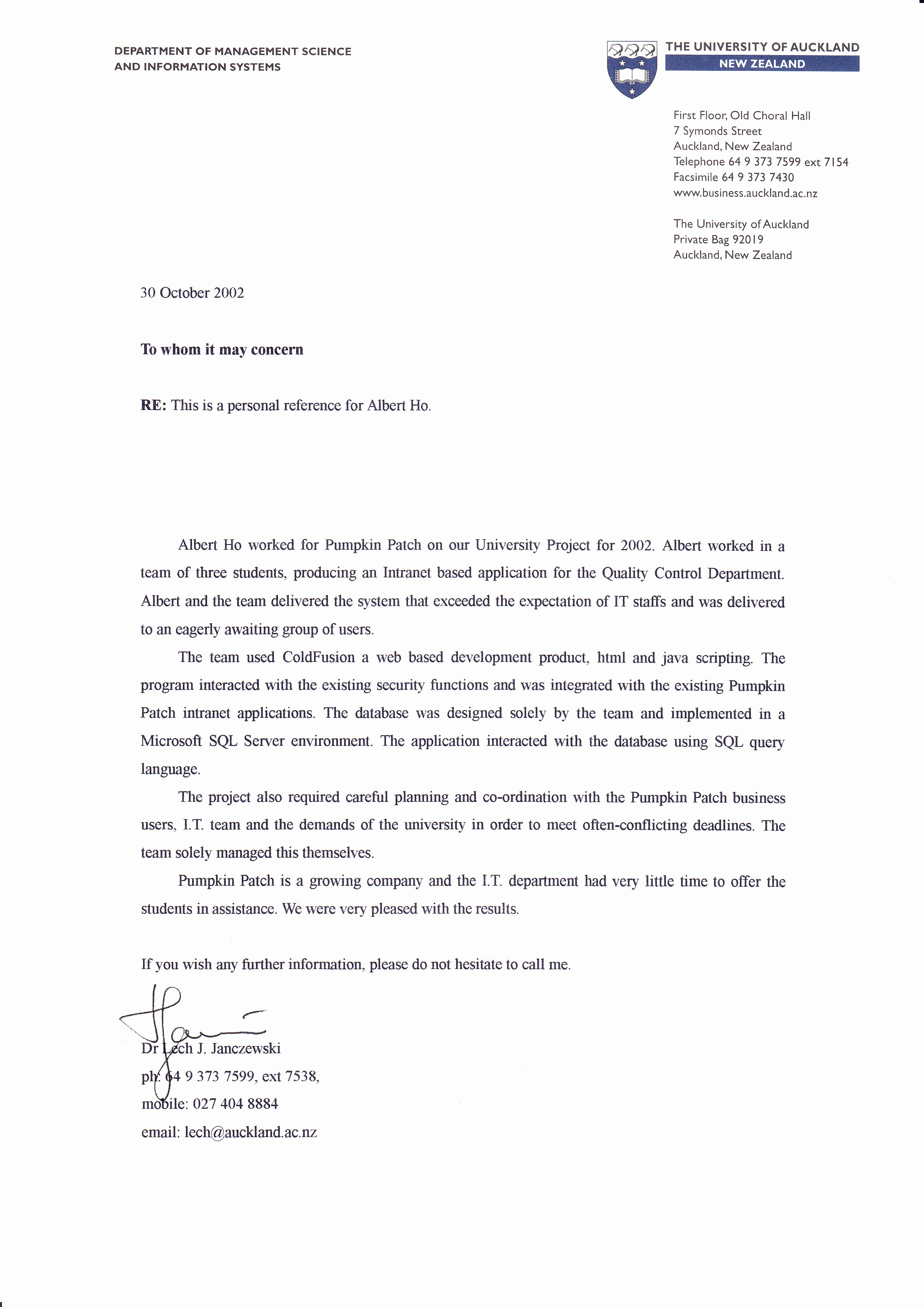 Uc Letter Of Recommendation Unique Albert Cv Cloud Big Data Architect