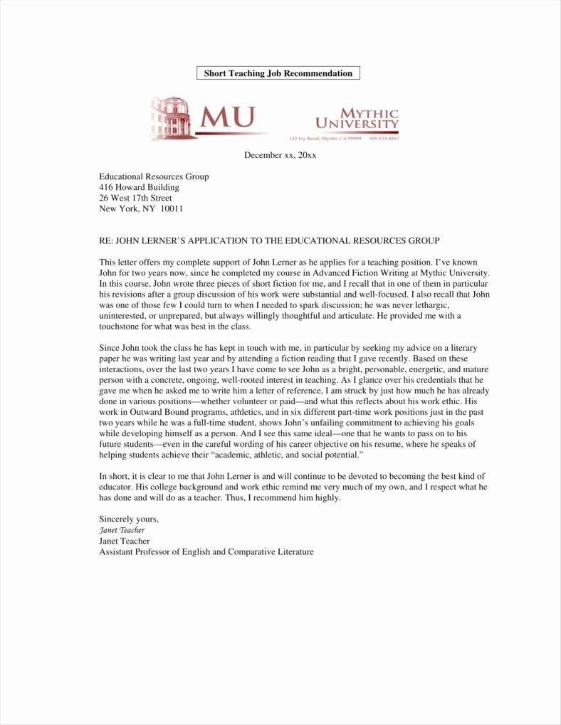 Ucf Letter Of Recommendation Elegant 9 Teacher Promotion Letter Templates Free Pdf Doc