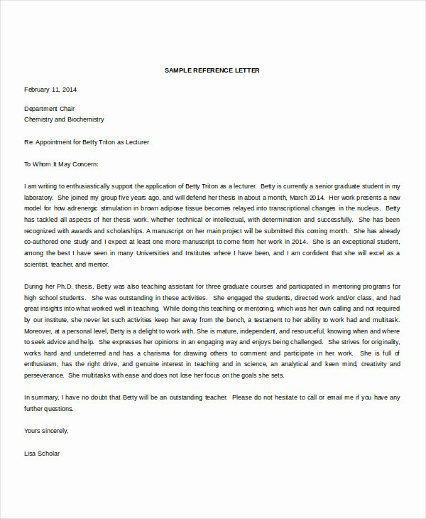 Ucsd Letter Of Recommendation Fresh Re Mendation Letter 15 Free Word Pdf Documents