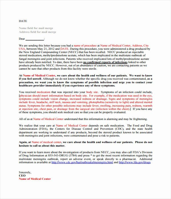 Ucsd Letter Of Recommendation Unique 17 Letter Templates Free Word Pdf Documents Download