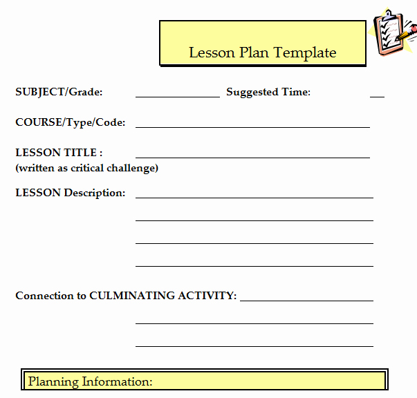 Udl Lesson Plan Template Beautiful 41 Free Lesson Plan Templates In Word Excel Pdf