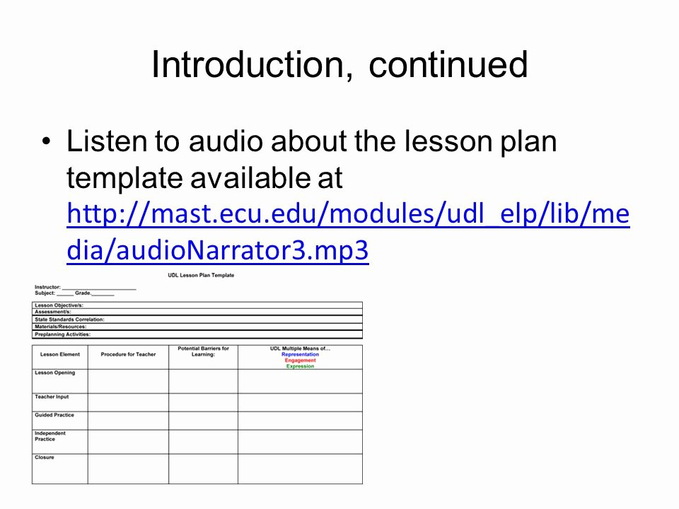 Udl Lesson Plan Template Fresh Universal Design for Learning Elementary Lesson Planning