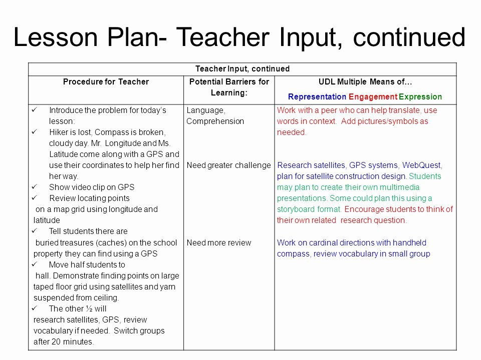 Udl Lesson Plan Template Inspirational Pass Lesson Plan Template Intricutlaser