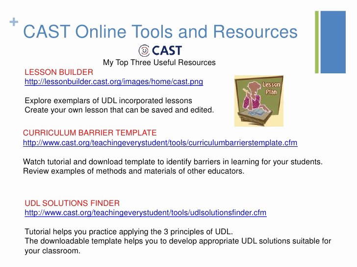 Udl Lesson Plan Template New Udl