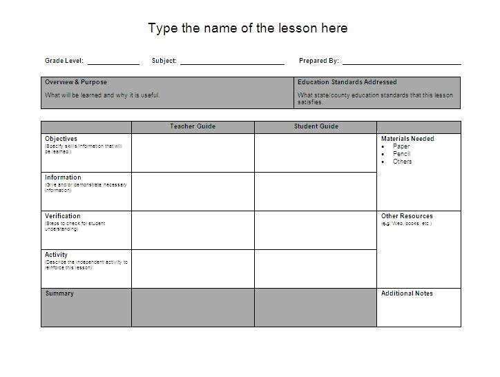 Umd 4 Year Plan Template Awesome Lesson Plan format