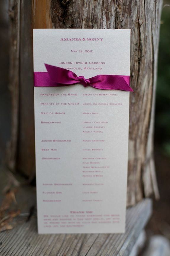 Umd 4 Year Plan Template New Simple Diy Wedding Programs From Amanda & sonny S Vintage