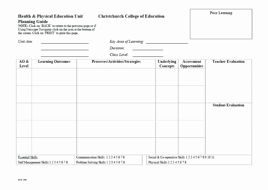 Unit Lesson Plan Template Awesome College Lesson Plan Template Word – Ddmoon