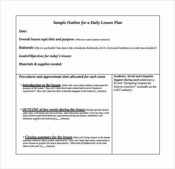 Unit Lesson Plan Template Inspirational 10 Unit Lesson Plan Samples