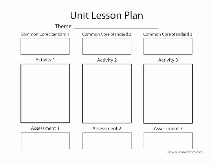 Unit Lesson Plan Template Inspirational Mon Core Unit Lesson Plan Template Lesson Depot