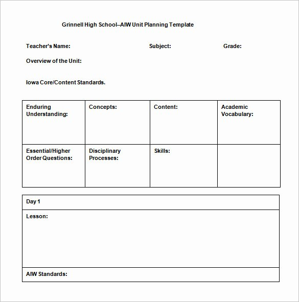 Unit Lesson Plan Template New Movie Lesson Plan Template Intricutlaser