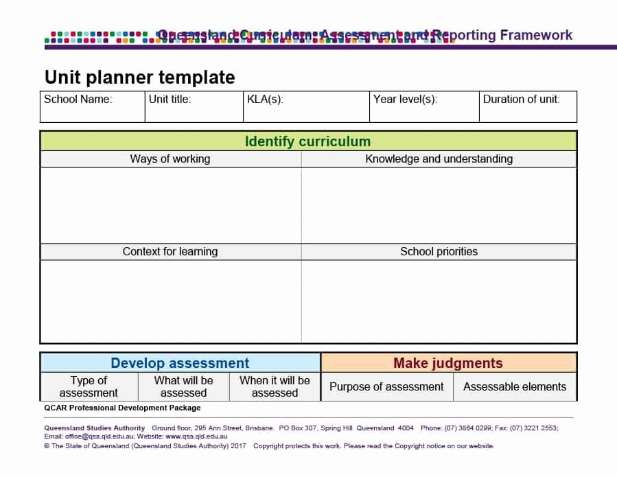 Unit Plan Template Doc Lovely 39 Best Unit Plan Templates [word Pdf] Template Lab