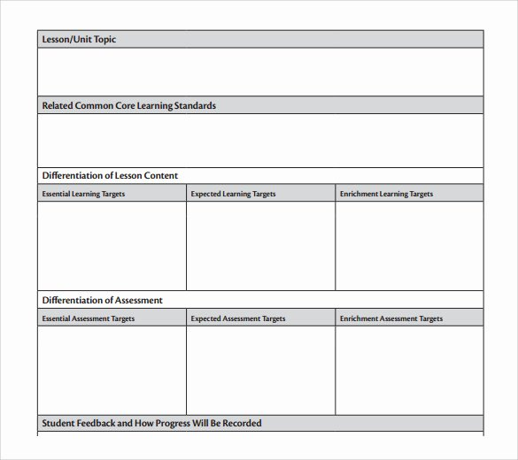 Unit Plan Template Doc Luxury Unit Lesson Plan Template 9 Free Samples Examples