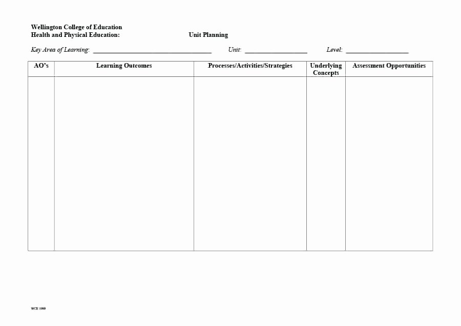 Unit Plan Template Word Beautiful Unit Plan and Lesson Plan – Rightarrow Template Database