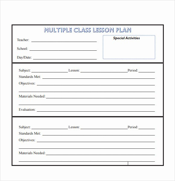Unit Plan Template Word Luxury 10 Sample Lesson Plans