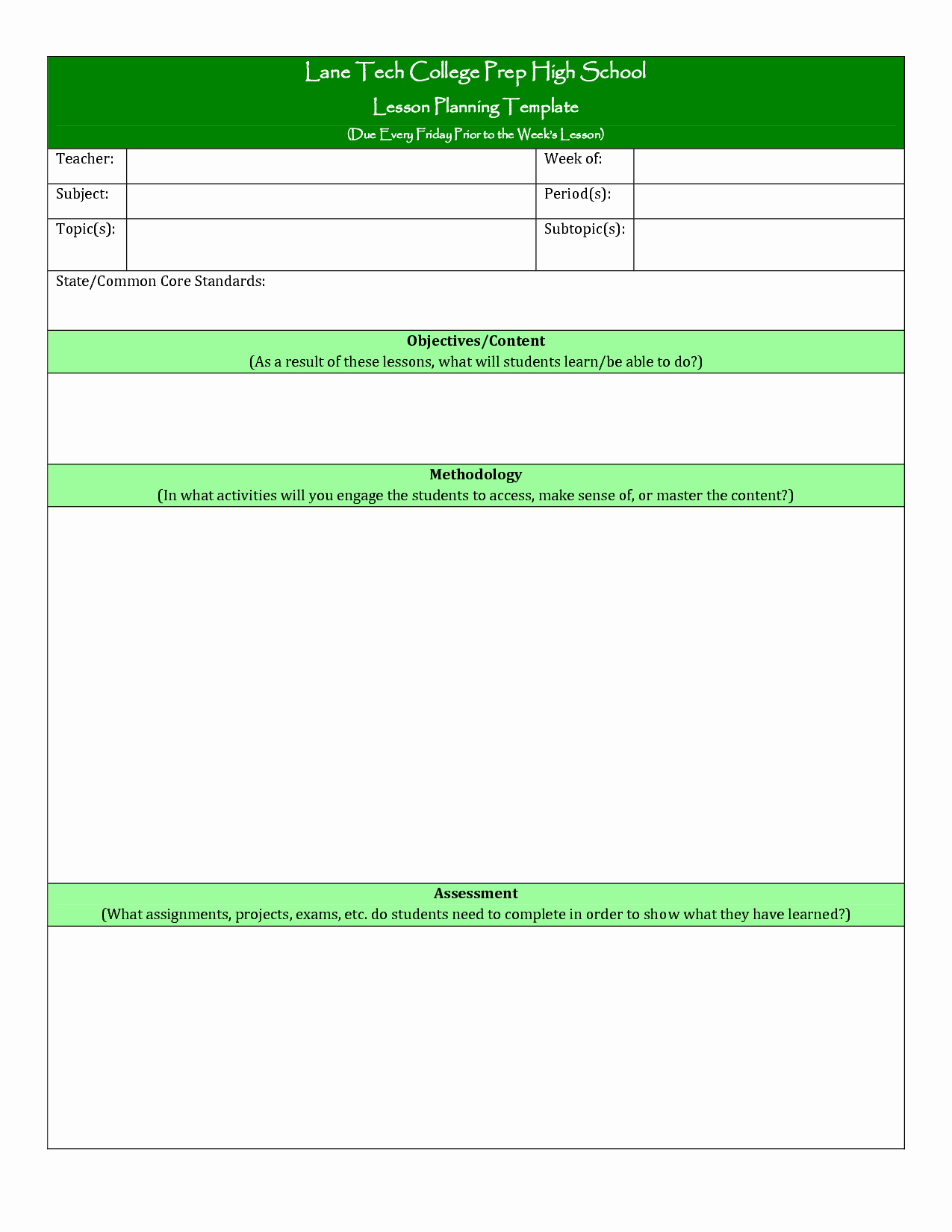 University Lesson Plan Template Lovely College Lesson Plan Template Printable
