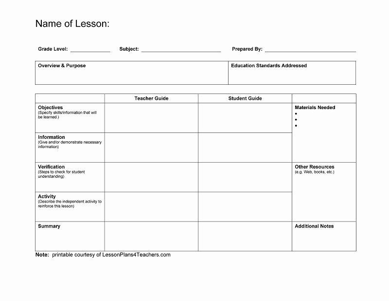 University Lesson Plan Template Unique Lesson Plan Template University – Nipissing