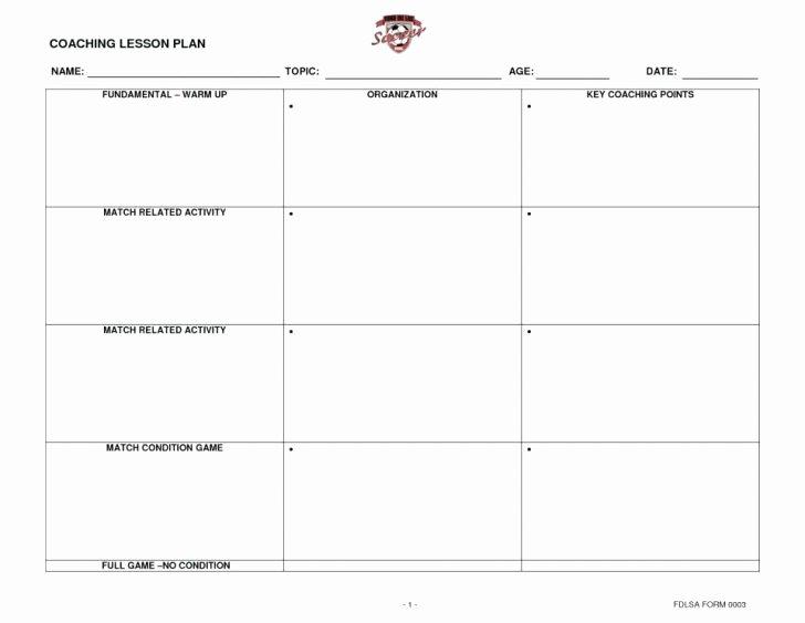 Us soccer Practice Plan Template Elegant soccer Practice Lesson Plan Template Shmpfo