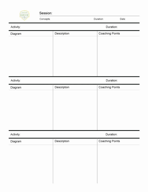 Us soccer Practice Plan Template Unique Free Downloads for soccer Coaches