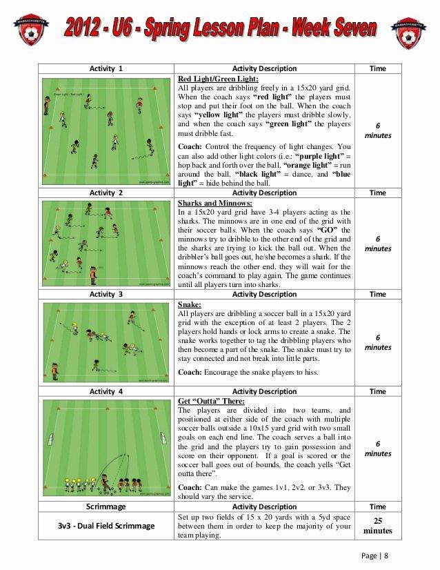 Us soccer Practice Plan Template Unique Us soccer Exercises