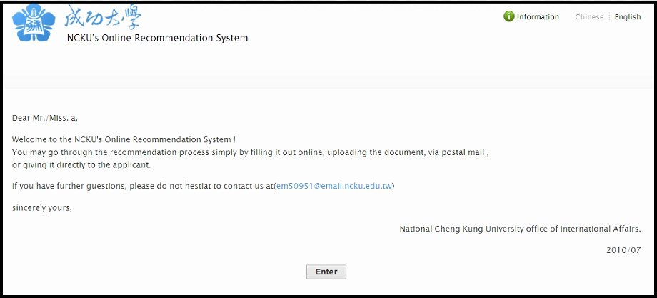 Usf Letter Of Recommendation Inspirational Ncku National Cheng Kung University Fice Of