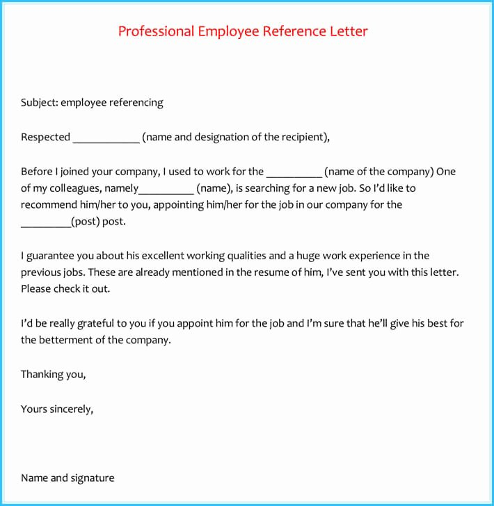 Usf Letter Of Recommendation Lovely 20 Best Reference Letter Examples and Writing Tips