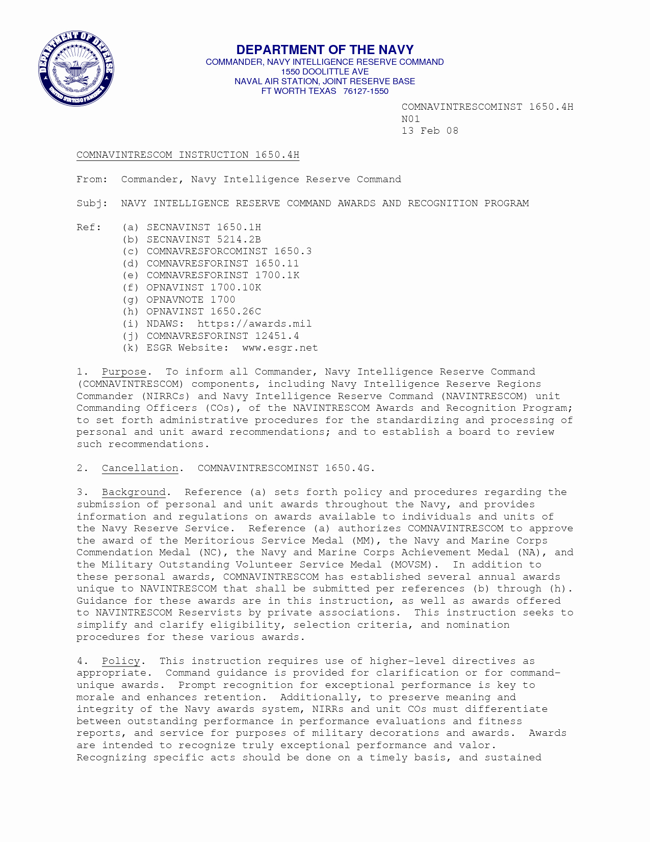 Usmc Letter Of Recommendation Awesome Naval Letter format