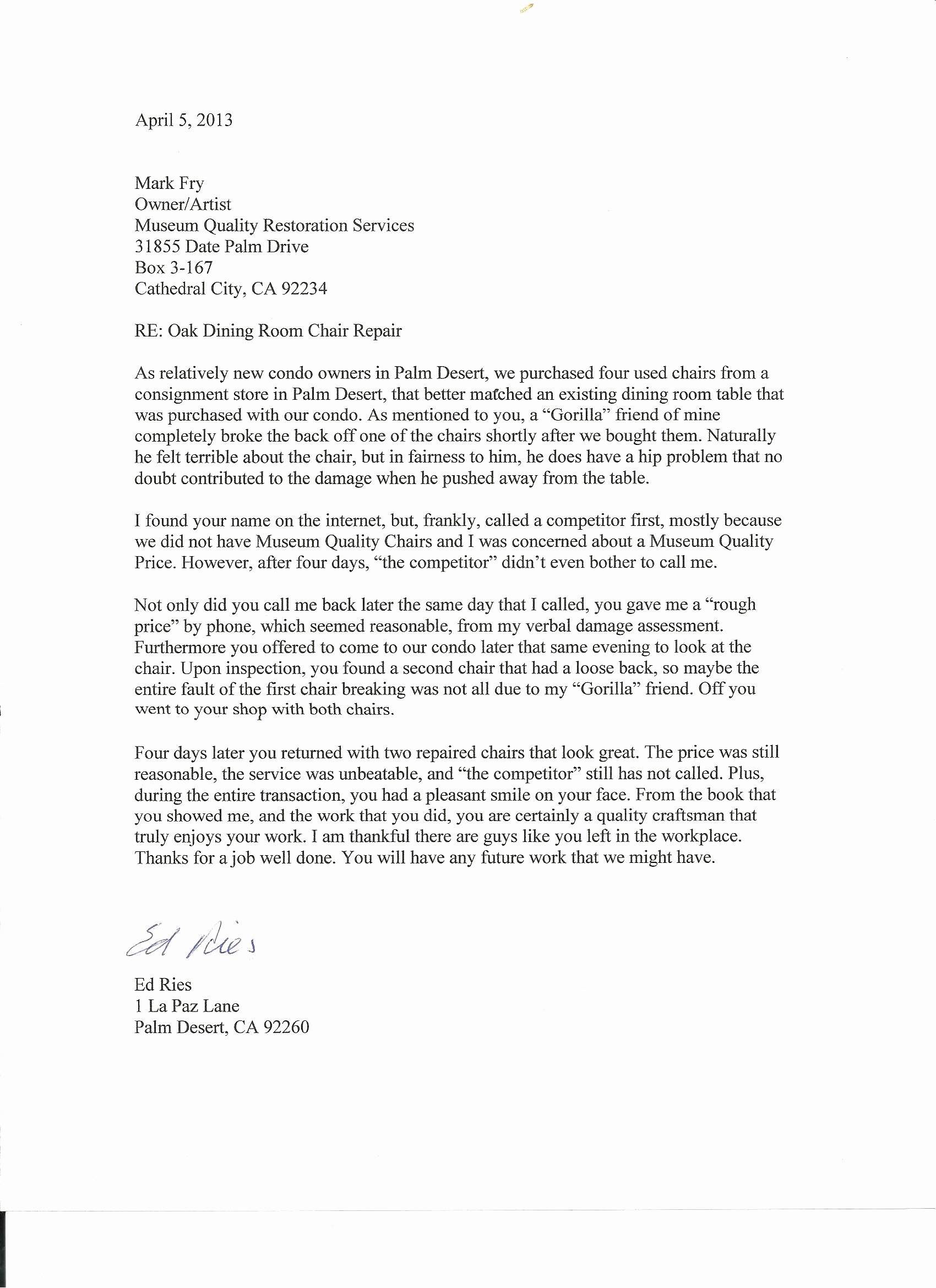 Usmc Letter Of Recommendation Awesome Testimonials