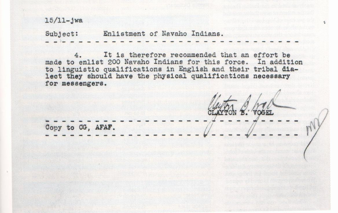 Usmc Letter Of Recommendation Unique Memorandum Regarding the Enlistment Of Navajo Indians