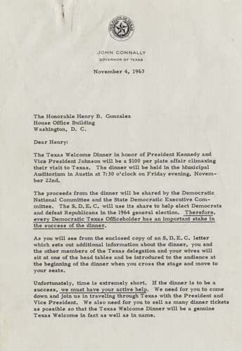 Ut Austin Letter Of Recommendation Elegant John Connally Letter the Dolph Briscoe Center for