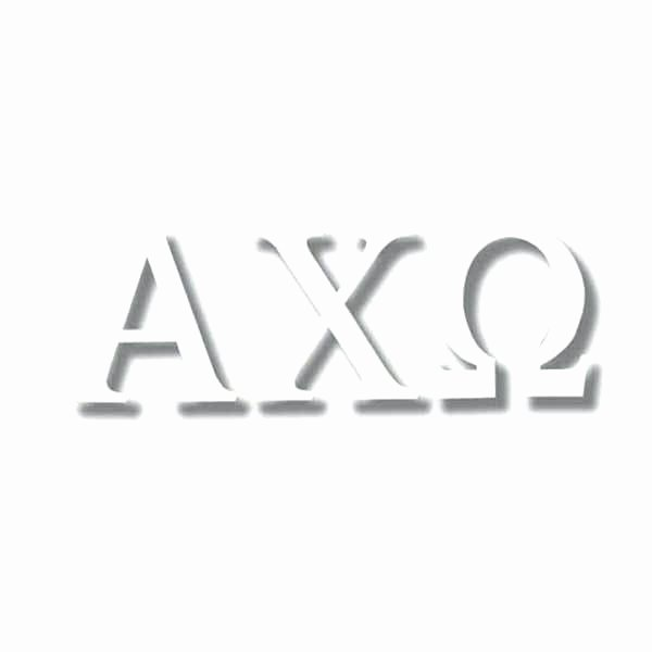 Ut Austin Letter Of Recommendation Unique Alpha Chi Omega sorority Stud Earrings In Sterling Silver