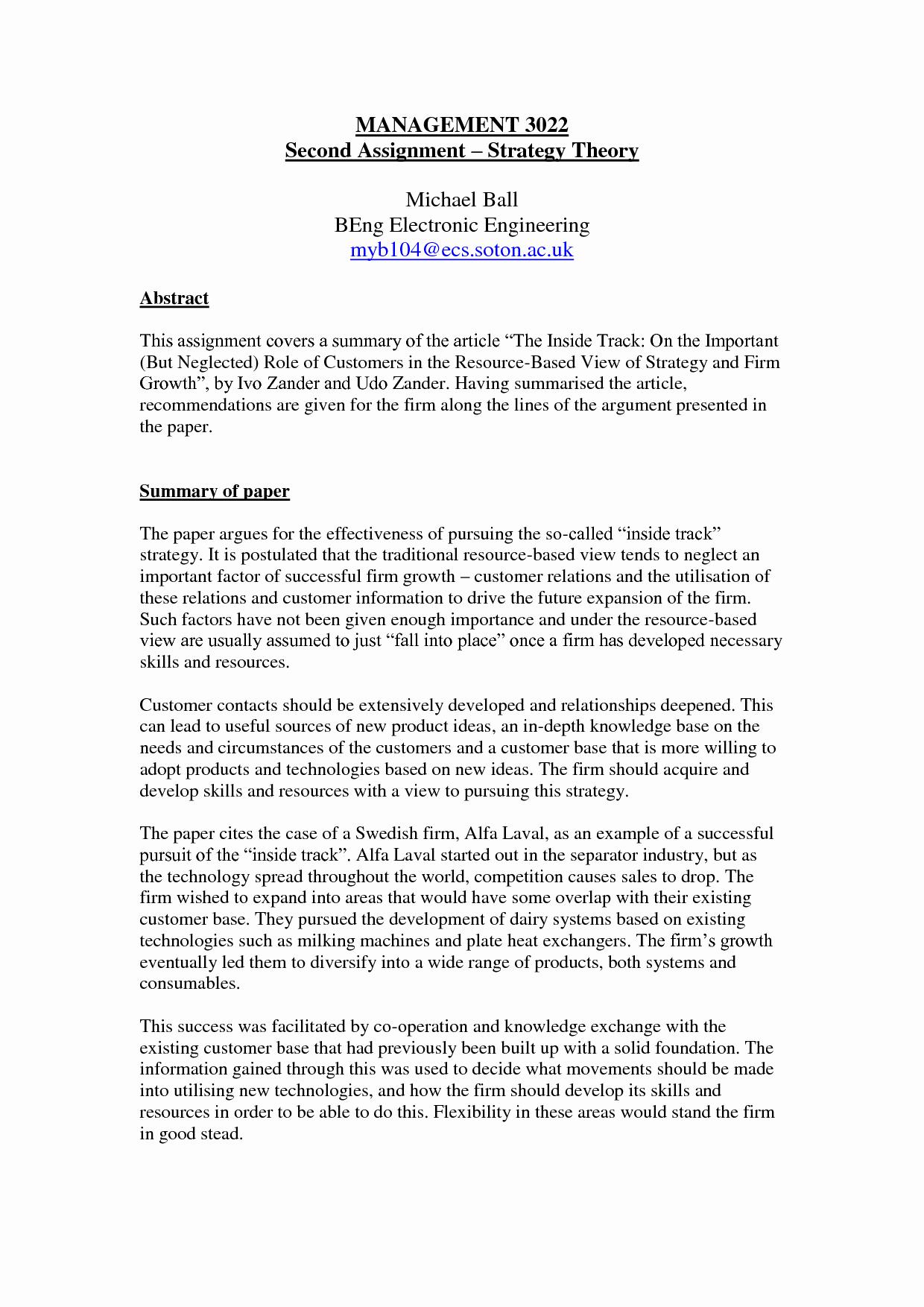 Ut Austin Recommendation Letter Elegant 44 Example A Summary Essay Writing Summaries