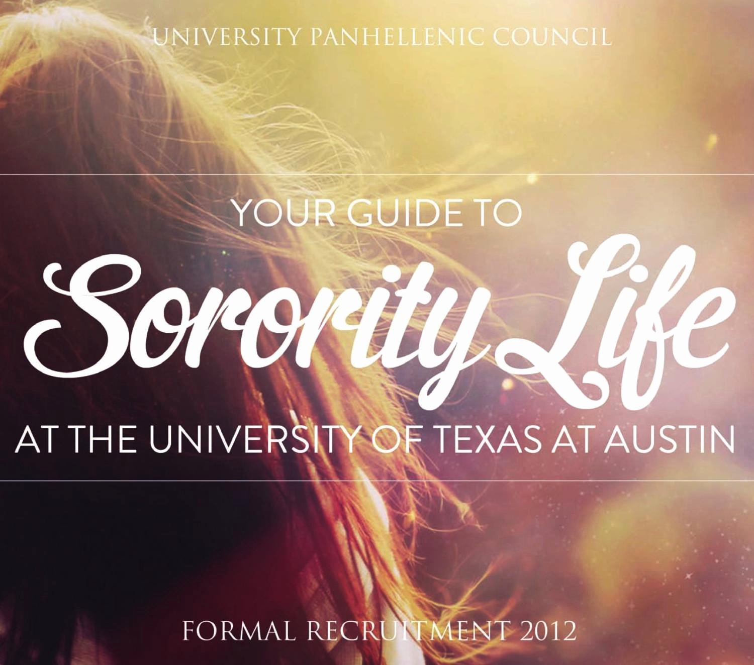 Ut Austin Recommendation Letter Inspirational sorority Life University Of Texas 2012 by Publication