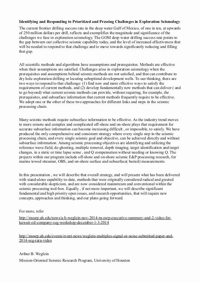 Ut Austin Recommendation Letter Lovely Arthur Weglein Presentation at the University Of Texas