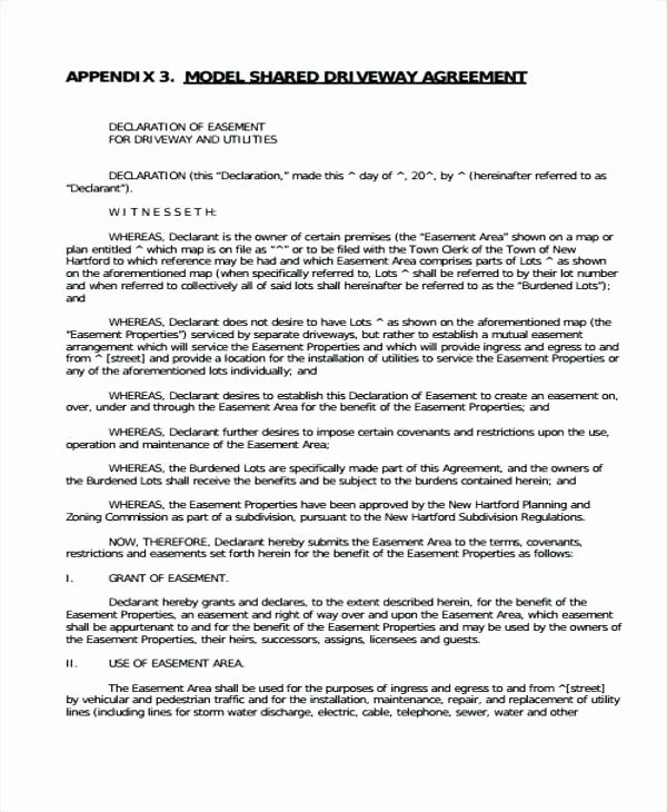 Utility Easement Agreement Template Best Of Utility Easement form