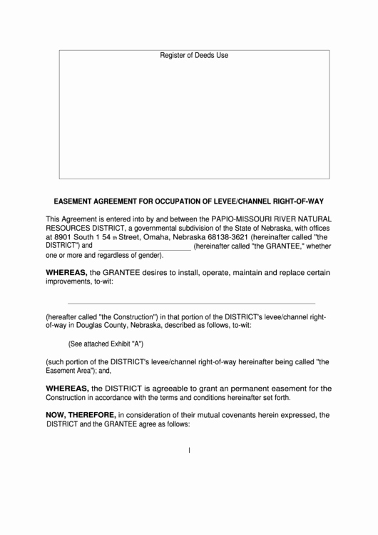 Utility Easement Agreement Template New top Easement Agreement form Templates Free to In