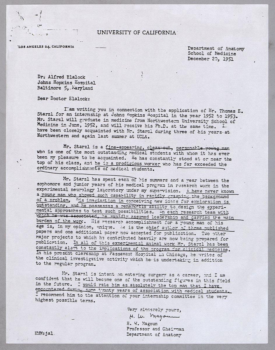 Uw Letter Of Recommendation Elegant the Ficial Dr Thomas E Starzl Web Site Dr Horace W