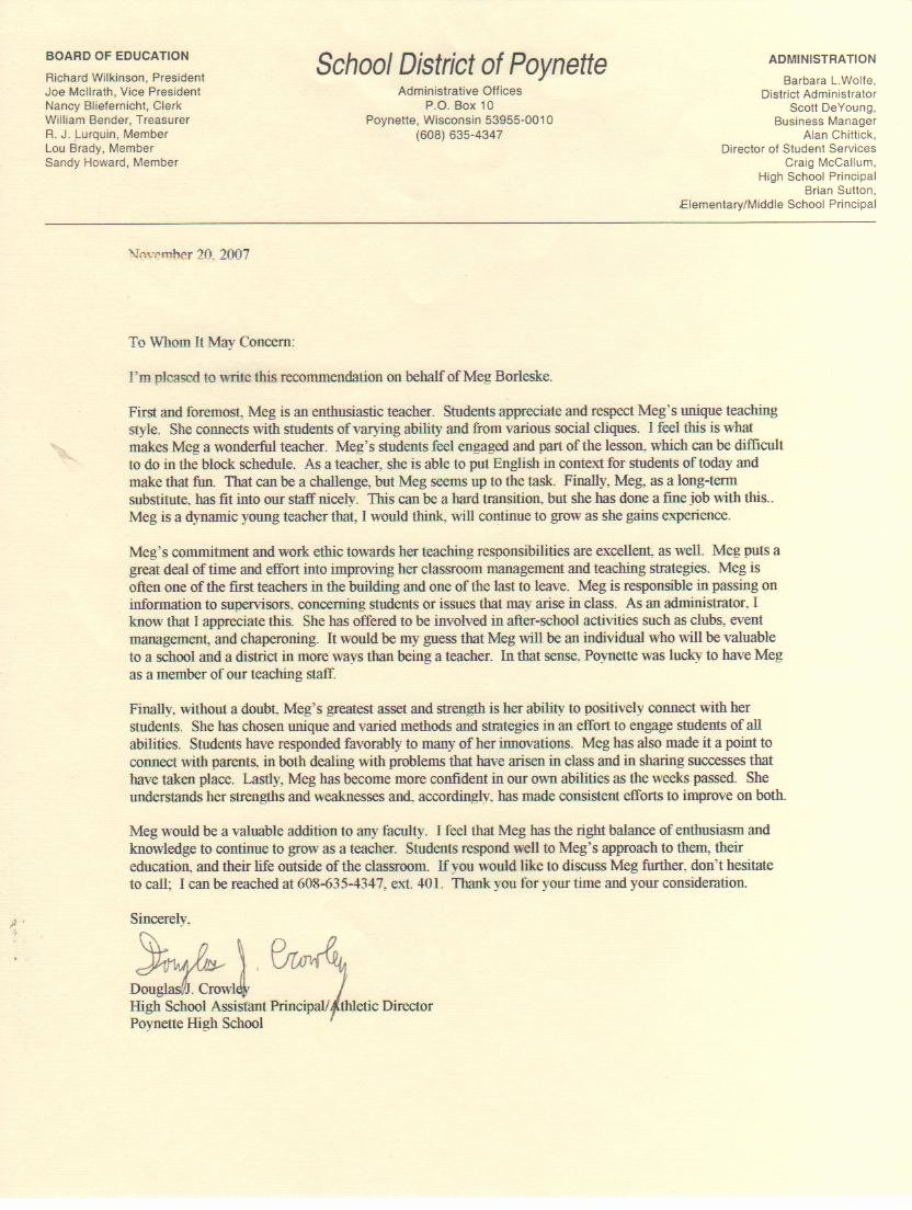 Uw Madison Letter Of Recommendation Fresh Megan K Smith Letters Of Reference and Evaluations