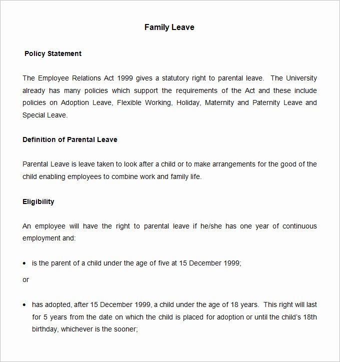 Vacation Coverage Plan Template Awesome Vacation and Sick Leave Policy Template Pccc