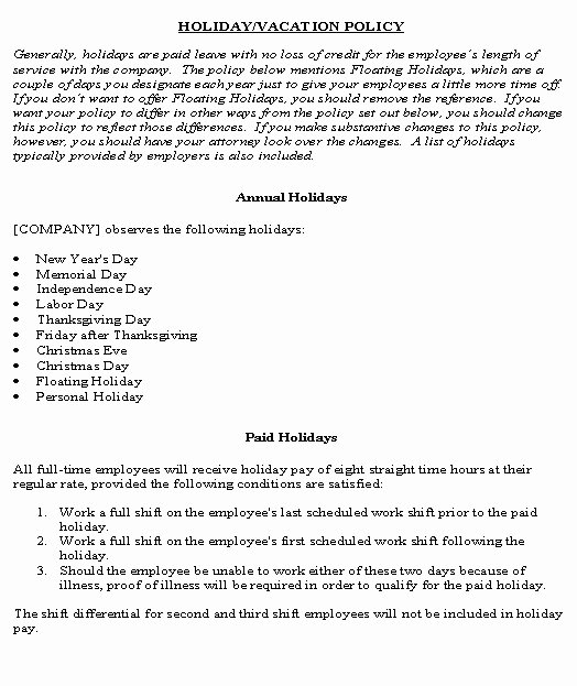 Vacation Coverage Plan Template Elegant Brilliant Ideas for Pany Vacation Policy Template About