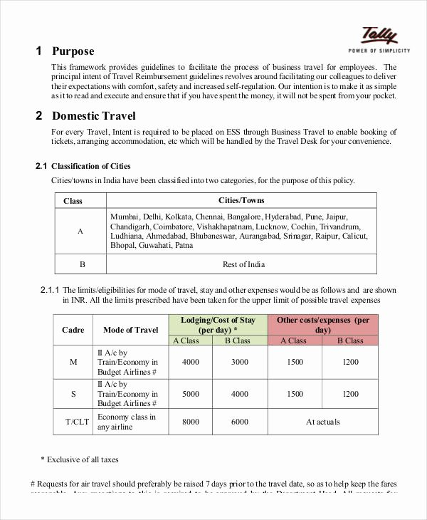 Vacation Coverage Plan Template Inspirational Business Policy Template 9 Free Pdf Documents Download