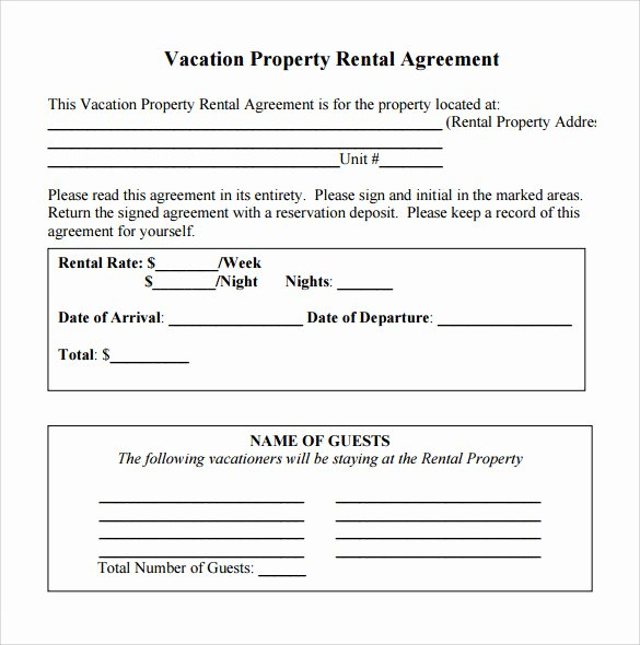 Vacation Rental Business Plan Template Elegant Simple Rental Agreement 10 Download Free Documents In