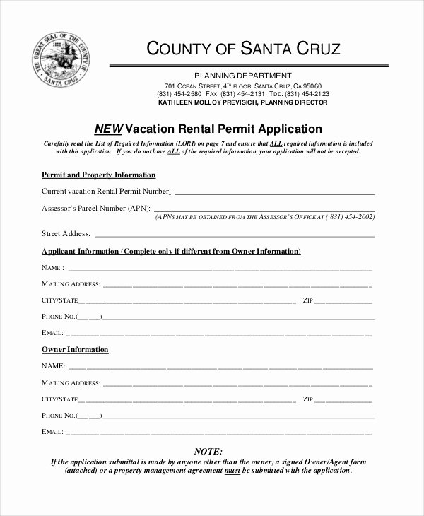 Vacation Rental Business Plan Template New Rental Application form 9 Free Sample Example format